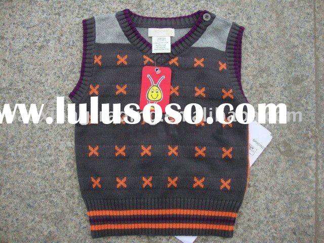 2012 fashion kid's cotton pullover sweater,sweater vest