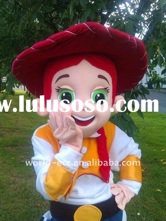 2012 high class toy story jessie mascot costume, movie cartoon costume, party mascot costume