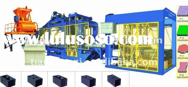 2012 hot sells brick machine, QT12-15 Automatic Concrete Cement Block Making Machinery (Tianyuan Bra