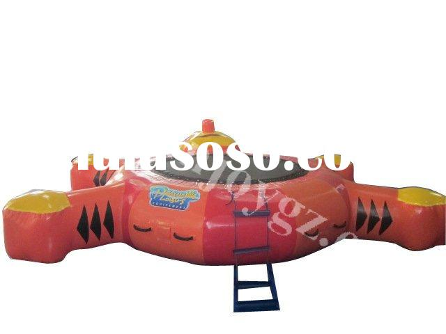 2012 new pvc inflatable water trampoline child trampoline