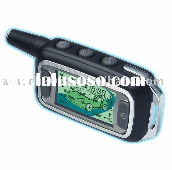 2012 new two way car alarm remote control discount long distance, america IC,plc