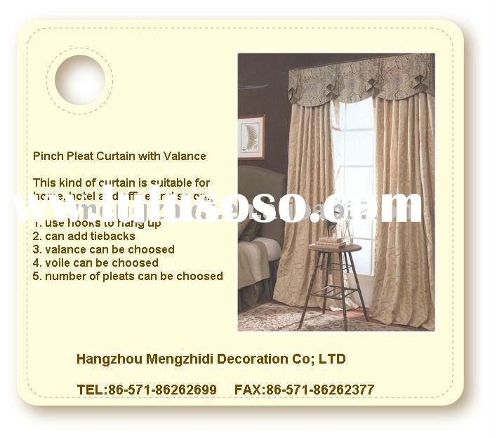 2012 new, window curtain,shade with valance,european style.