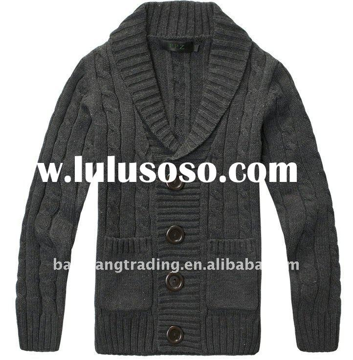 2012 newest fashion men's lapel cardigan sweater for winter