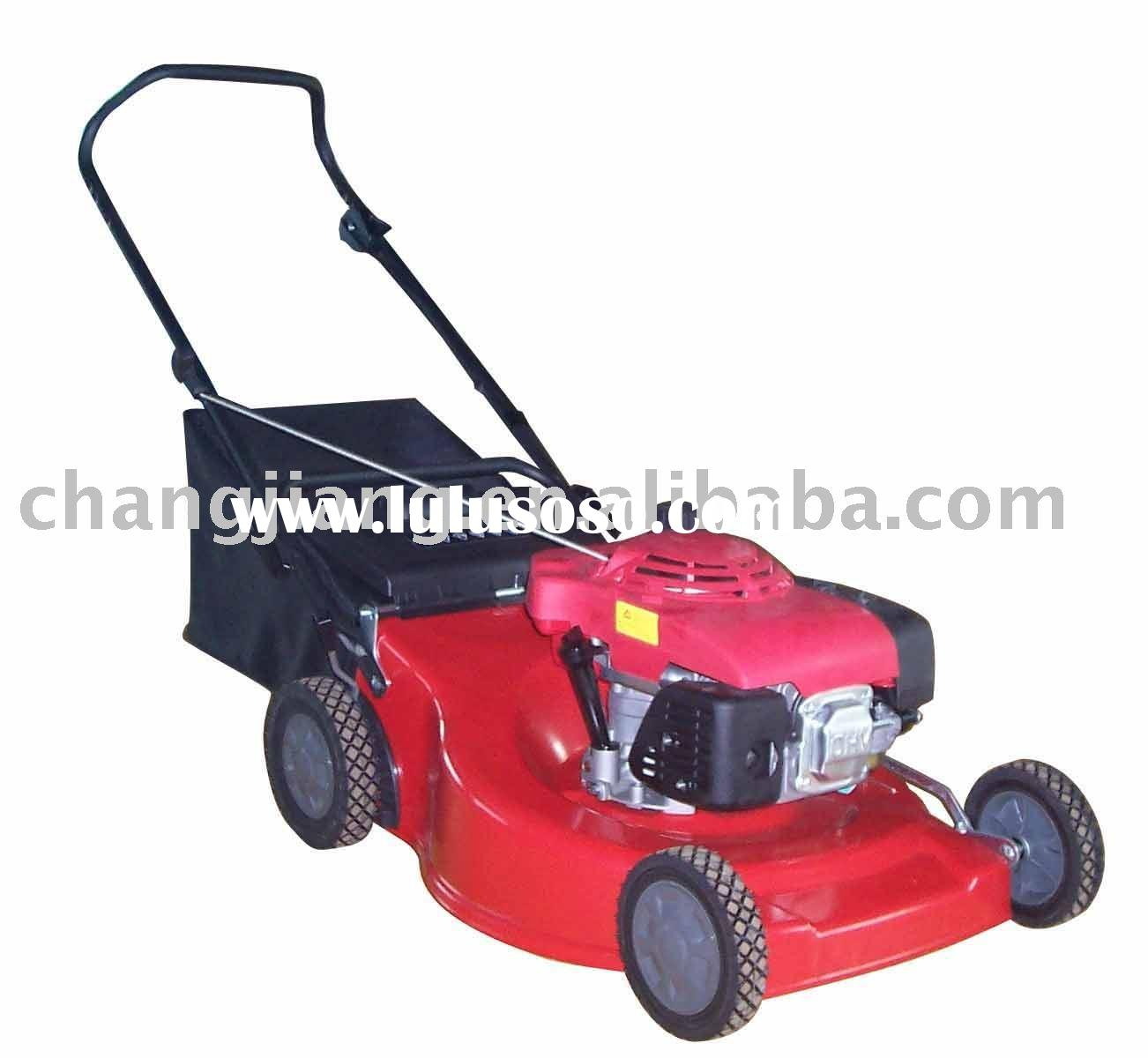 "21"" hand push gasoline lawn mower with bag grass cutter and garden tools (CJ21TZSH55)"
