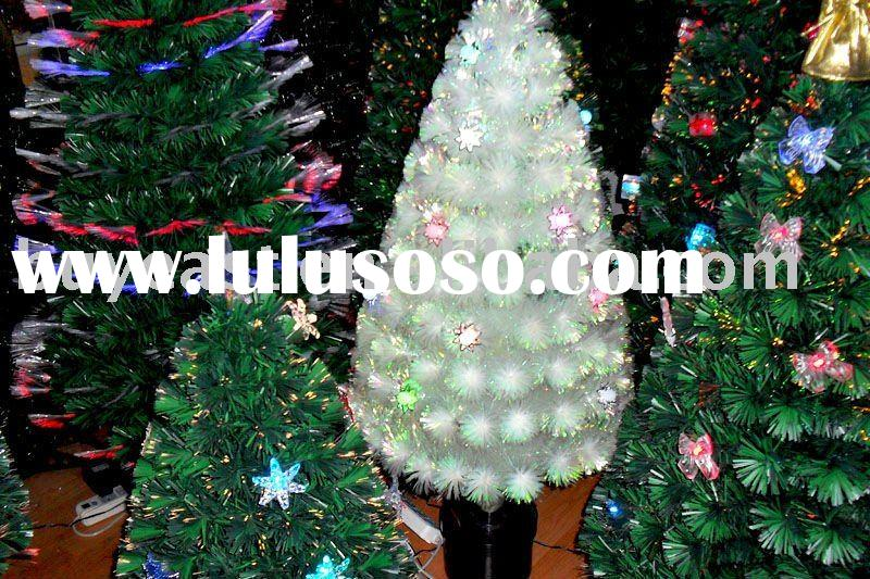 White Fibre Optic Christmas Tree, White Fibre Optic