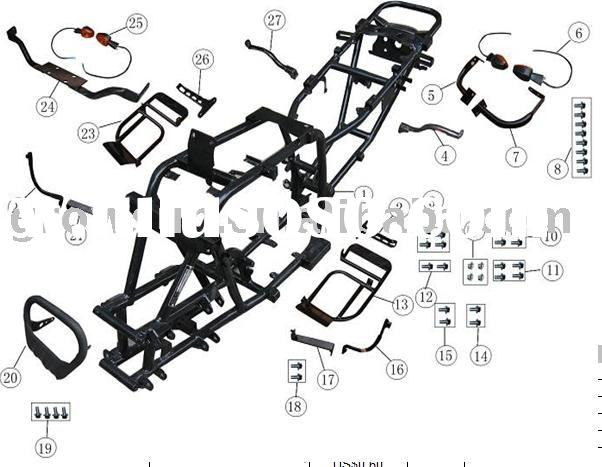 zongshen 200cc wiring diagram four wire system wiring Chinese 4 Wheeler Parts Diagram Chinese 50Cc 4 Wheeler Wire Diagram