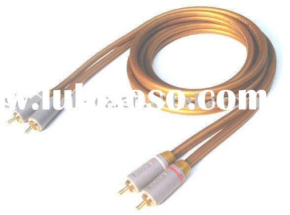 2 RCA cable, car audio cable