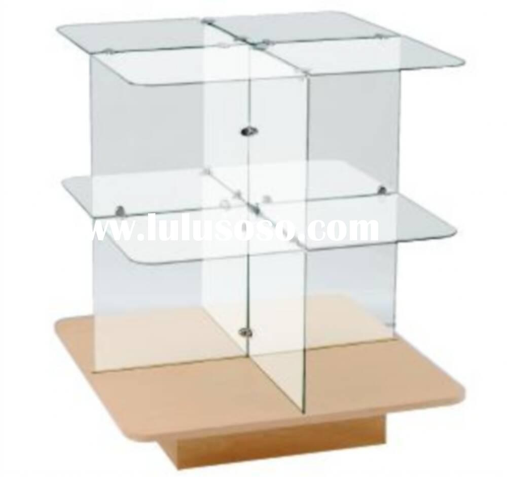 2 Tier glass merchandising table