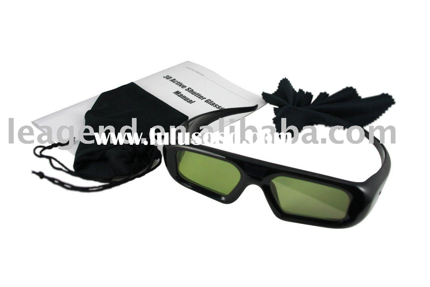 3D active shutter glasses for 3D TV and 3D projector(black)