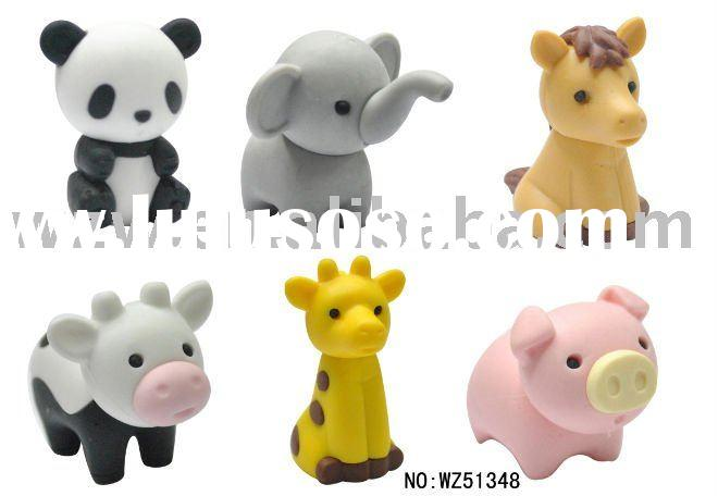 3D animal shaped erasers