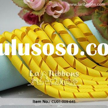 "3/8"" wide yellow korker ribbon for wholesale"