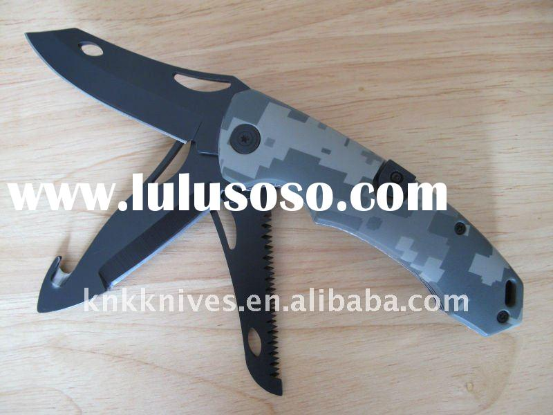 3 blade folding camping knife / three blade folding knife / folding hunting knife