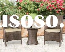 3 piece casual Outdoor setting. Brown rattan with cream cushions