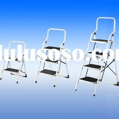 3 step steel ladder, folding step ladder
