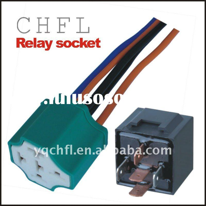 and 5 Pin Relay Socket ( Automotive Relay Socket for Wiring Harness)