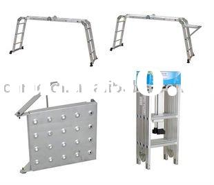 4-fold Aluminum ladder folding hunting ladder stand