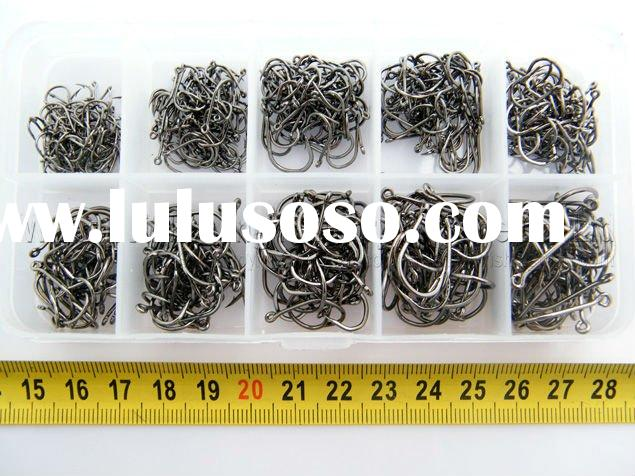 500pcs in 1 Box High Qulity Carbon Steel Bronze Golden Fishing Hooks Sharp 3#-12#