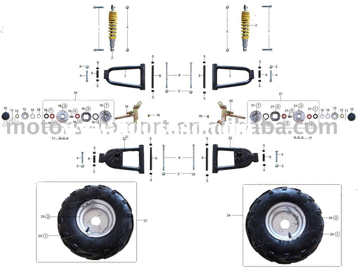 Chinese 90 Atv Wiring Diagram on coolster parts diagram