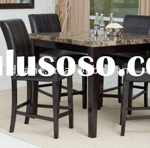5-Piece Counter Height Dining Set Contemporary-style table with 4 chairs
