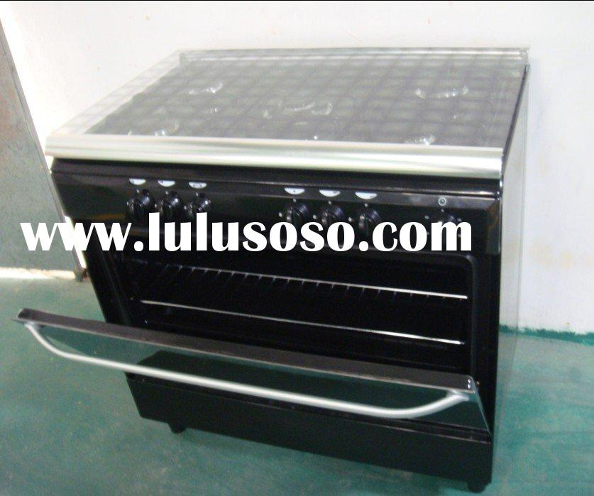 5 burners free standing gas oven