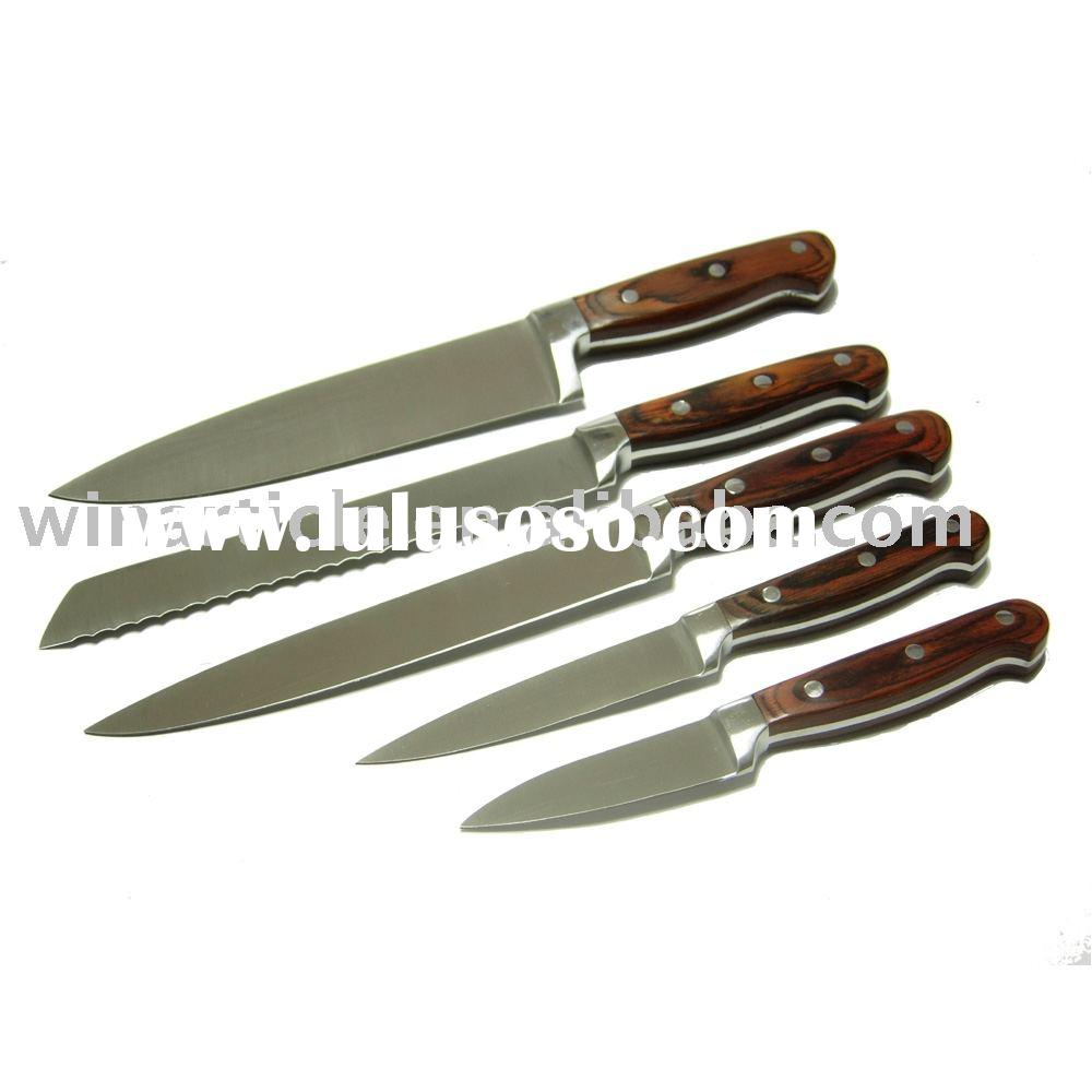 Knife 12pcs set with wooden handle knife 12pcs set with for Handle kitchen set
