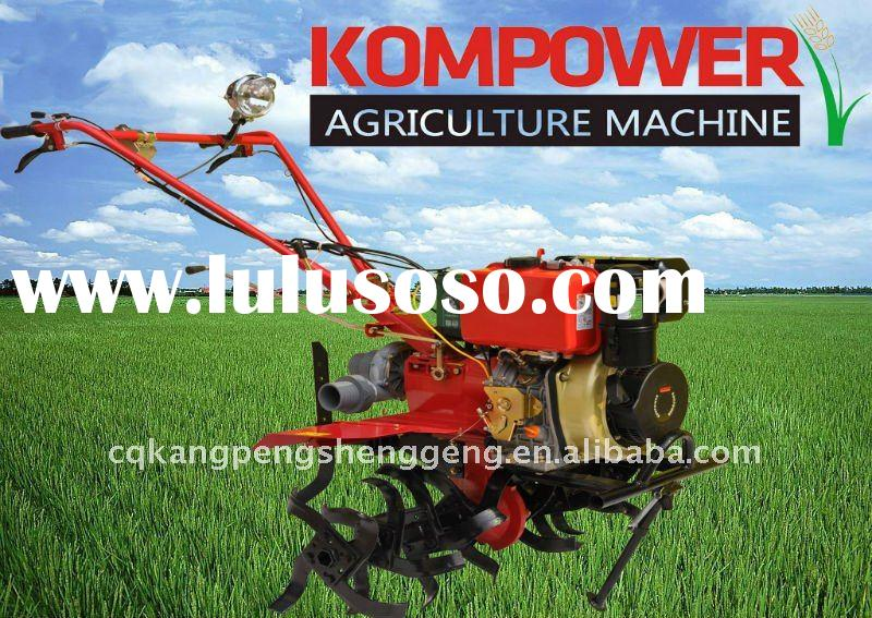 6-9HP power diesel rotary cultivator tiller with water pump