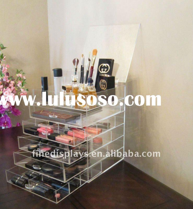 6 drawer acrylic makeup cosmetic organizer with dividers (CD-A-0078)