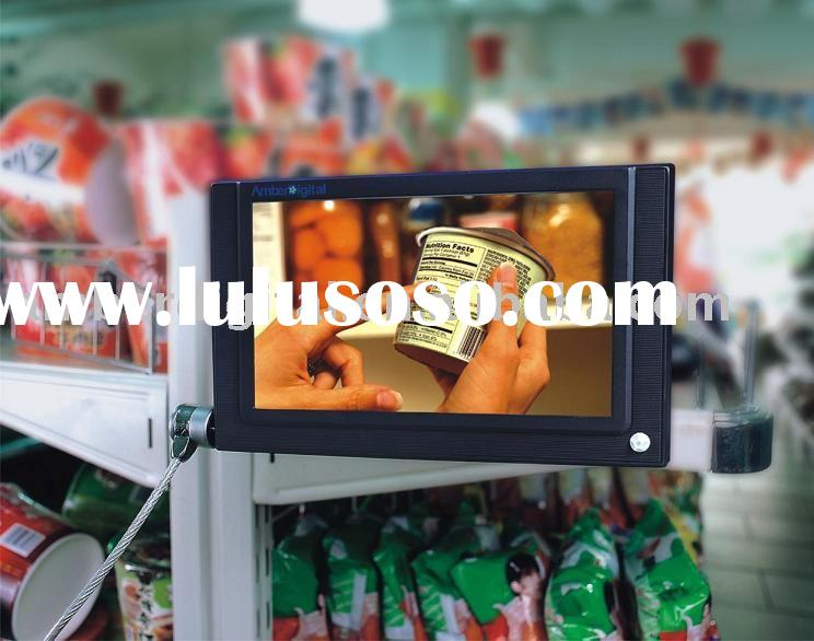 "7"" Digital Signage, Advertising display, LCD media player, IR motion sensor/remote control, USB"