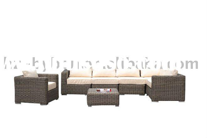 7-Piece Resin Wicker Outdoor Conversation Set