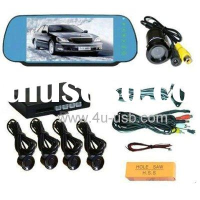7 inch car Rearview Mirror LCD Monitor Car Rear view System with Camera Video Car Park
