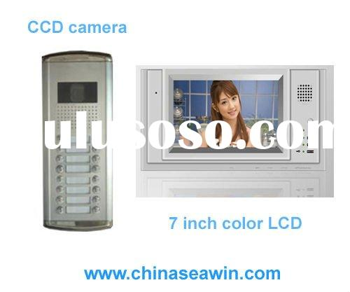 7 inch hands free video intercom door phone for apartments