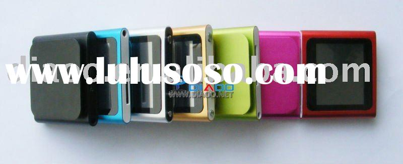 8GB Newest 6th style 1.8 inch touch screen 7 colors mini mp3/mp4 player