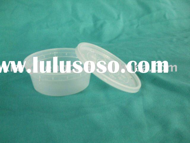 8oz disposable plastic PP salad bowl with lid