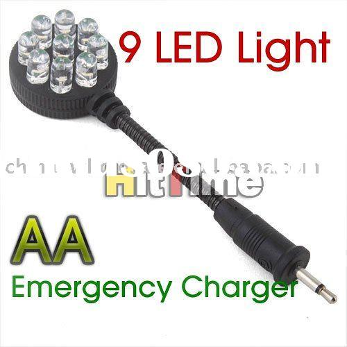 9 LED Light 4 Emergency AA Battery Mobile Phone Charger Wholesale