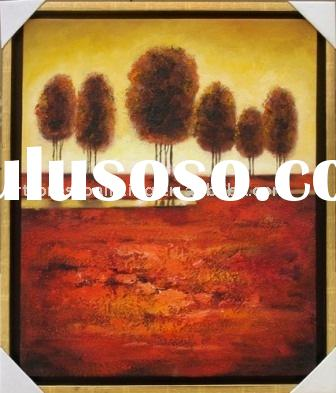 Abstract Trees painting,modern landscape painting,canvas landscape painting