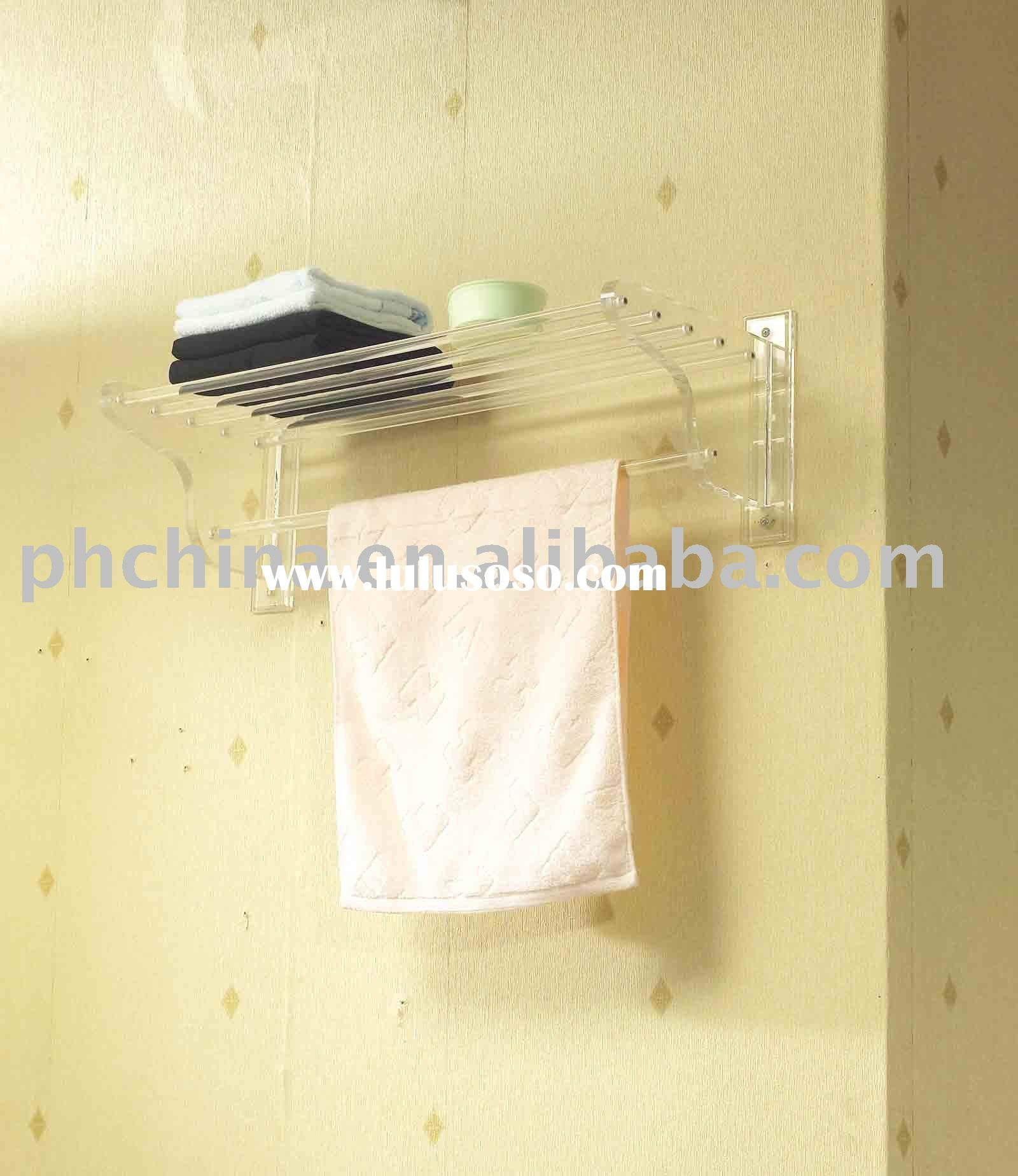 Acrylic Bathroom Shelf;Acrylic Towel Rack;Acrylic Bathroom Accessories