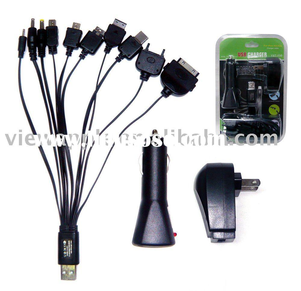 All-in-1 Mobile phone car charger home charger