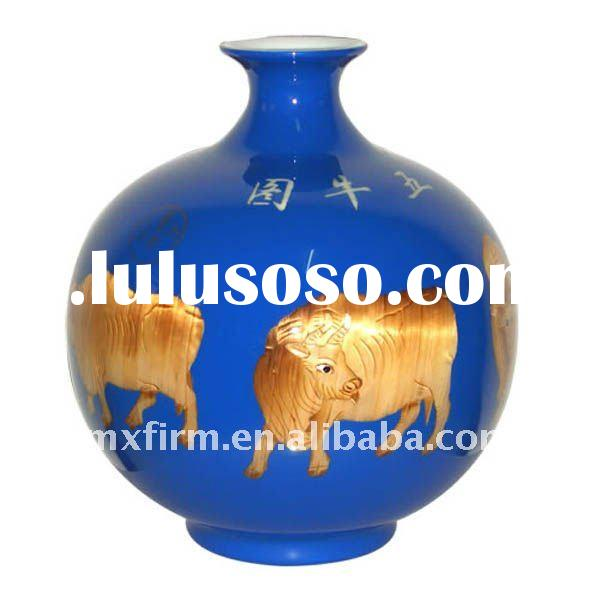 Ancient China Cow Picture Decorative Ethnic Vases Named ByMoney-Drawing Vase