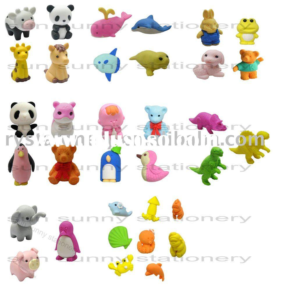 Animal 3D Fancy erasers