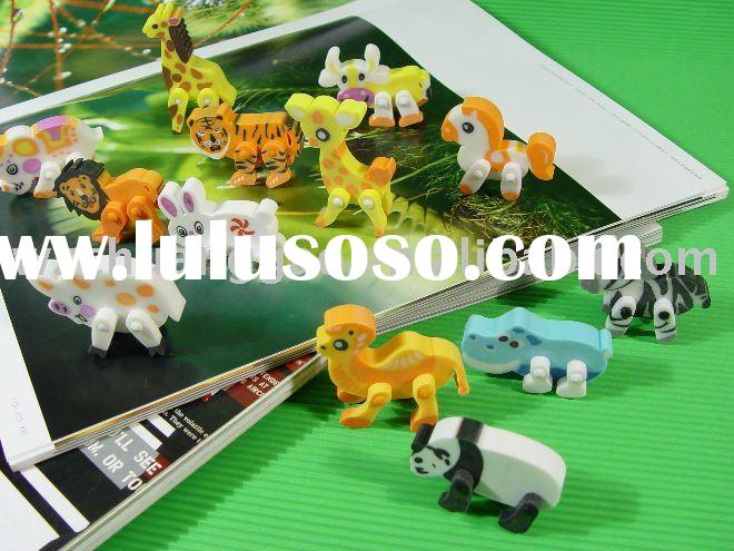 Animal Erasers with movable legs