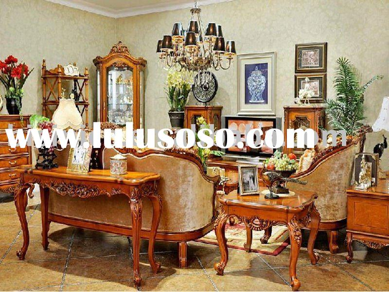 Antique european style luxury living room furniture set. bedroom furniture. dining room furniture se