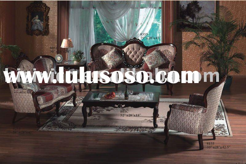 Antique solid wood living room sofa sets,single sofa,love sofa,three seat sofa,coffee table,end tabl