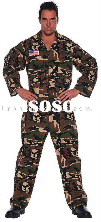 Army costume and adult jumpsuit