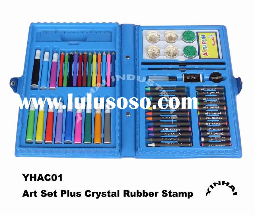 Art Set with Crystal Rubber Stamps