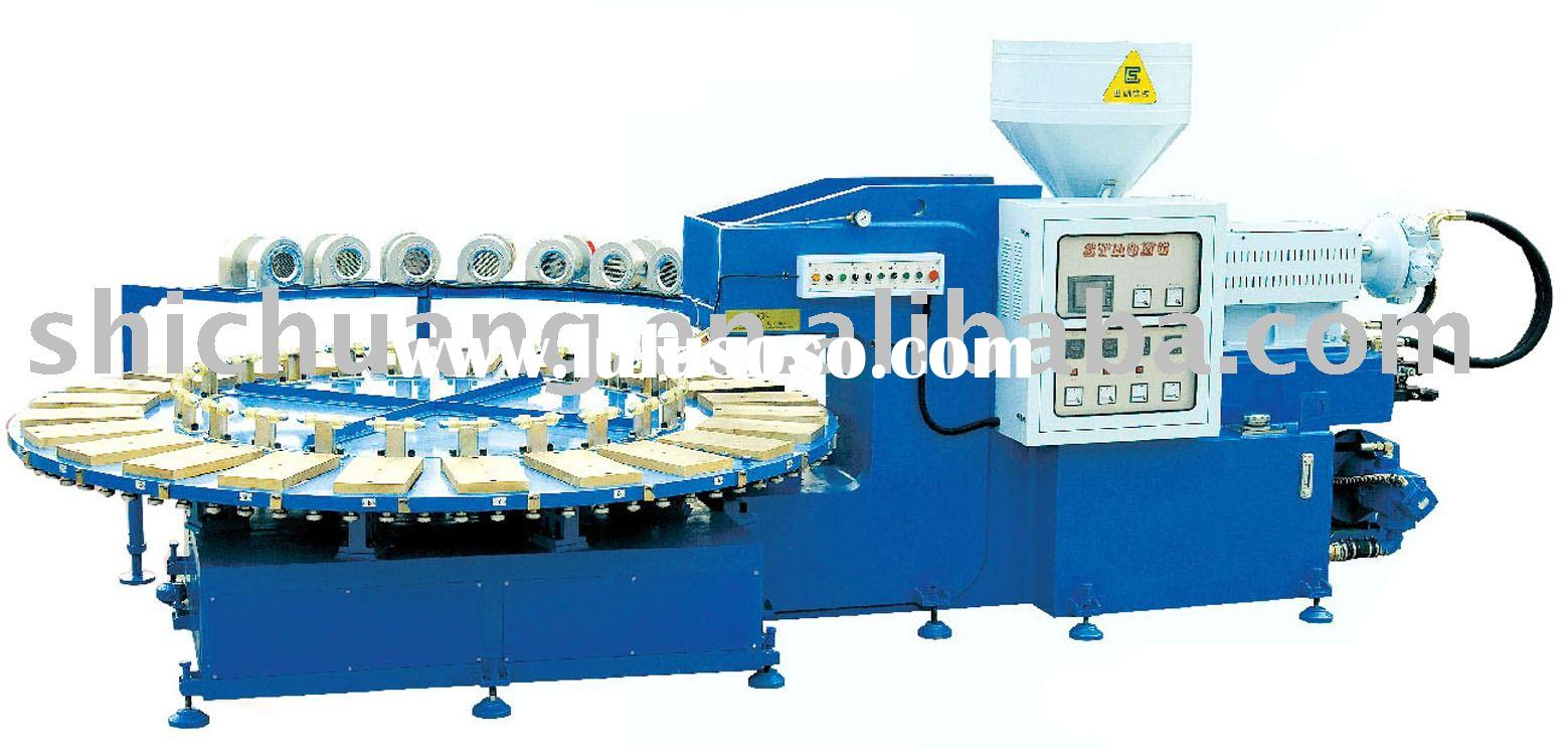 Automatic PVC Shoes Air Blowing Injection Moulding Machine