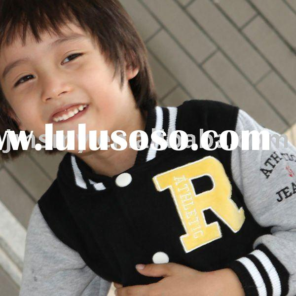 BLACK Color children Baseball jacket