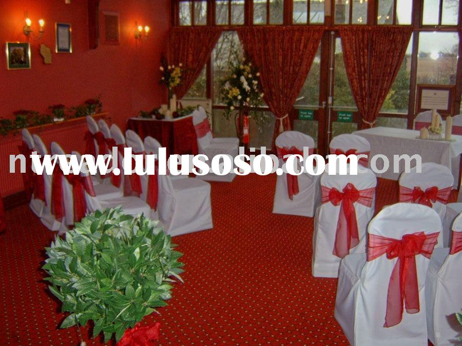Banquet Chair cover and sashes, wedding chair covers