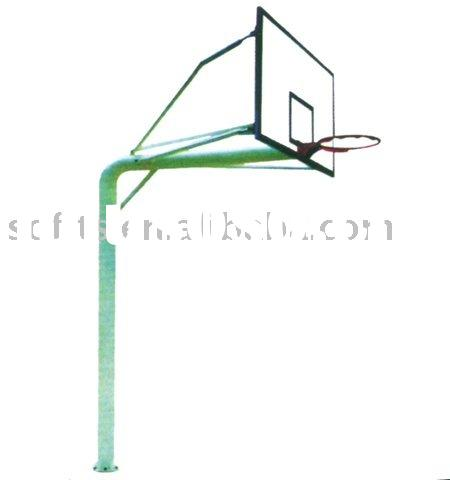 "Basketball Equipment In Ground Basketball Stand with 60"" Backboard and Basketball Hoop"