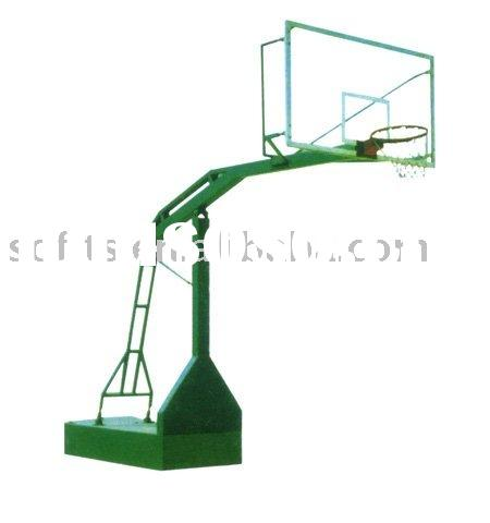 "Basketball Equipment Standard Basketball System with 54"" Acrylic Basketball Backboard Extension"