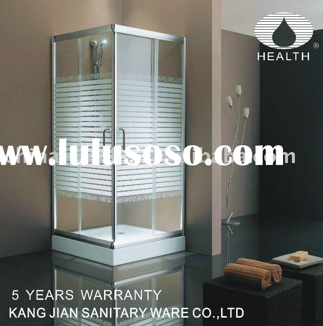 Bathroom silk screen glass sliding shower bathroom door